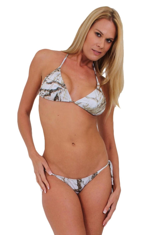 Women's Camo Bikini True Timber Swimwear: WHITE