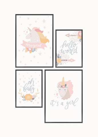 Unicorn Poster Set