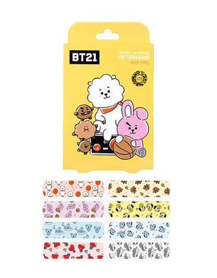 BT21 CHARACTER BANDAID YELLOW 16P