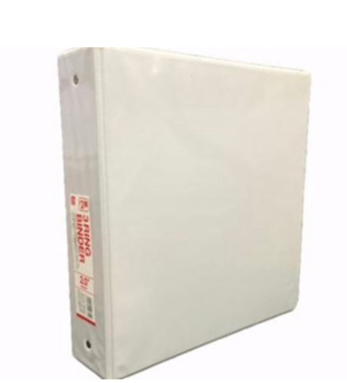 1.5 INCH 3 RING BINDER WHITE 10 X 11.6 X 2 IN