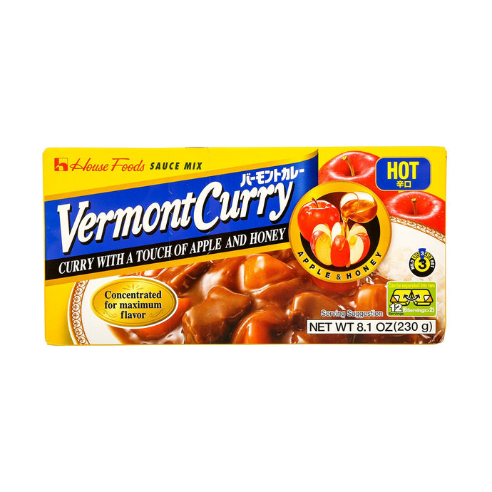 HSE VERMONT CURRY HOT 8.10 OZ