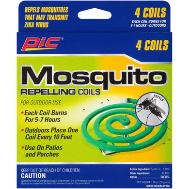 PIC MOSQUITO REPELLINGS COILS 4PCS