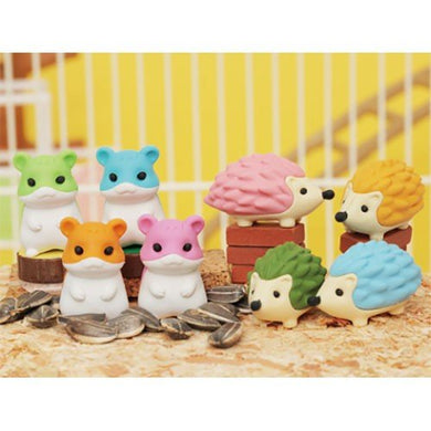 IWAKO ERASER HAMSTER AND HEDGEHOG
