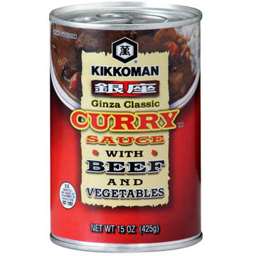 KKM GINZA CURRY SCE BEEF/VEG CAN