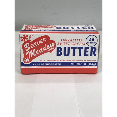 BEAVER MEADOW UNSALTED BUTTER 1LB