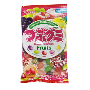 KASUGAI TSUBU GUMMY FRUITS 72G