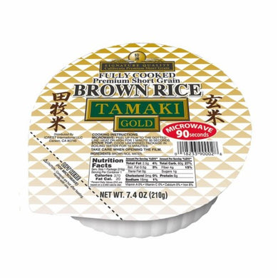 RICE COOKED TAMAKI BROWN BOWL GOLD 7.4