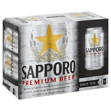SAPPORO BEER 12 PK