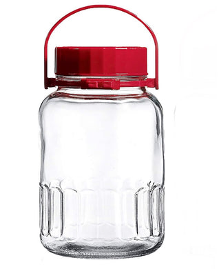 GLASS JAR WITH LID 1 GALLON
