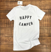 Load image into Gallery viewer, BEE & FOX- HAPPY CAMPER TEE