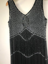 Load image into Gallery viewer, UNIQUE VINTAGE- BLACK & SILVER FLAPPER- LARGE