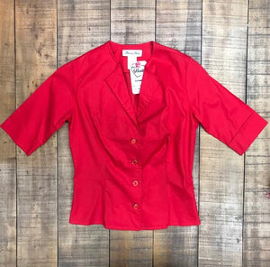 HEART OF HAUTE- RED GRETTA TOP