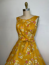 Load image into Gallery viewer, HEART OF HAUTE- MUSTARD FLORAL AMANDA DRESS
