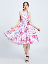 Load image into Gallery viewer, MISS LULO- PRETTY IN PINK HALTER SWING DRESS