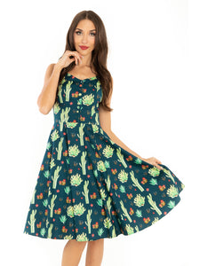 MISS LULO- CACTUS SWING DRESS