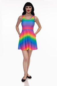 RETROLICIOUS RAINBOW SKATER DRESS