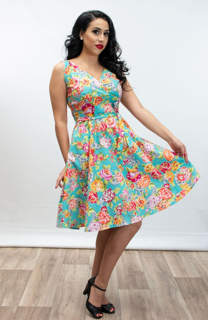 HEART OF HAUTE- PAISLEY ROSE DRESS