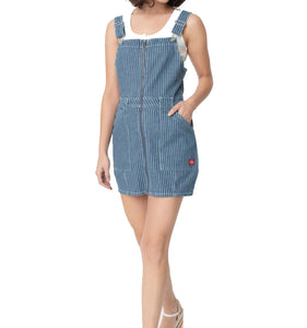 DICKIES- ANTIQUE DENIM OVERALL DRESS