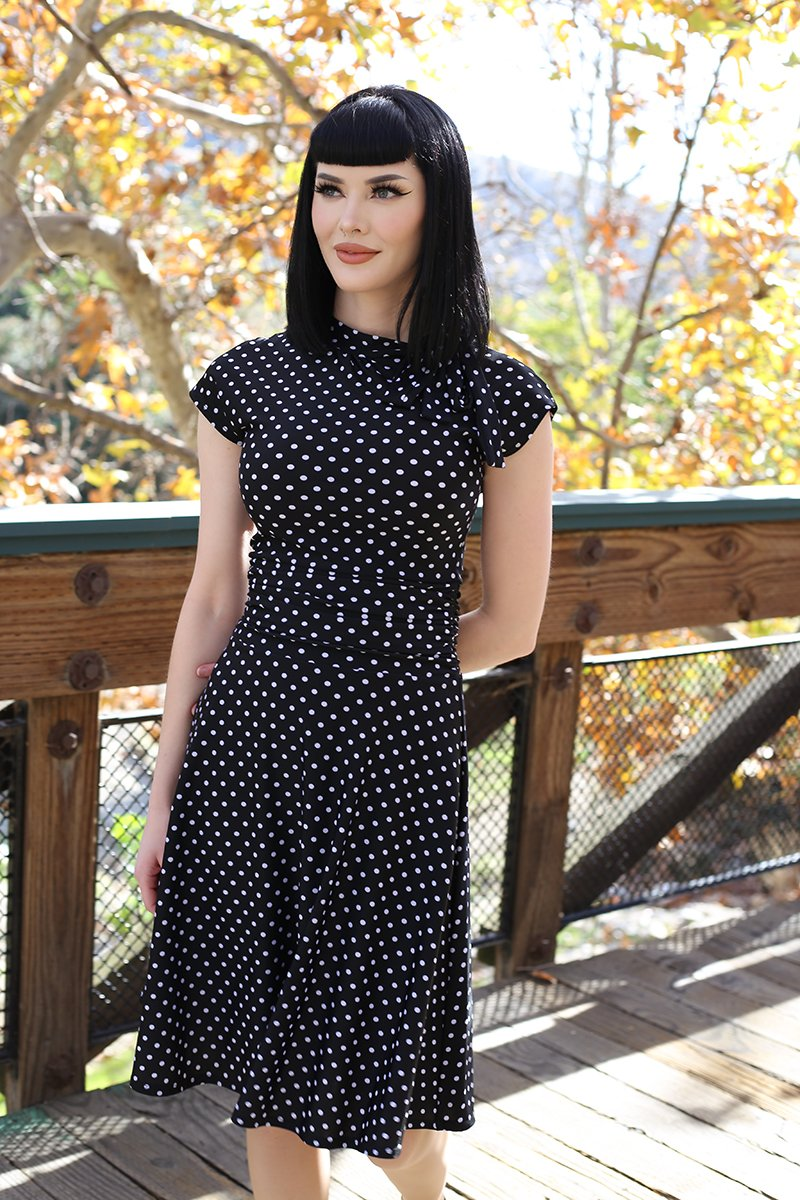 RETROLICIOUS BRIDGET-  BOMBSHELL DRESS POLKA DOT