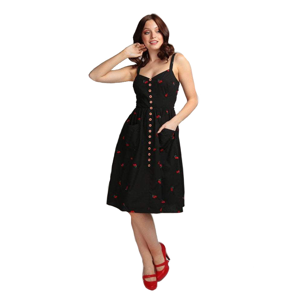 COLLECTIF- CHERRY SWING DRESS