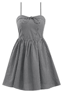 DOUBLE TROUBLE- GINGHAM SWING DRESS