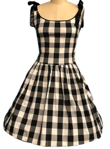 PINKY PINUPS- GINGHAM SUN DRESS