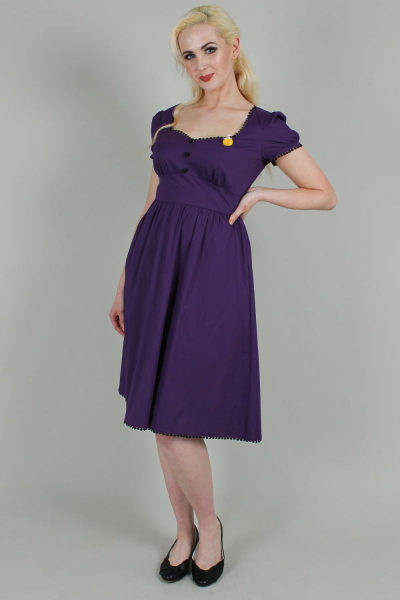 VOODOO VIXEN- BELLADONA PURPLE FIT & FLARE