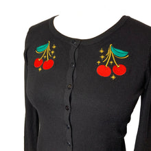 Load image into Gallery viewer, DOUBLE TROUBLE- CHERRY CARDIGAN