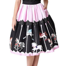 Load image into Gallery viewer, UNIQUE VINTAGE- CAROUSEL CIRCLE SKIRT