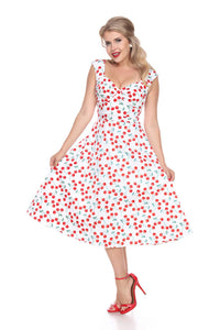 BETTIE PAGE- ON HOLIDAY CHERRIES DRESS