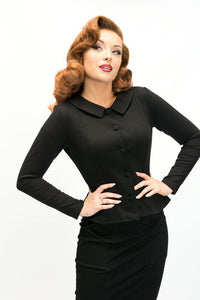 HEART OF HAUTE- BLACK MADELINE JACKET