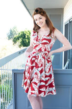 Load image into Gallery viewer, HEART OF HAUTE- MARIE DRESS TROPICAL RED