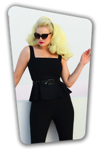 Load image into Gallery viewer, GLAMOUR BUNNY- EVE SUIT TOP BLACK