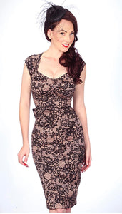 STOP STARING- LOVE LACE PRINT DRESS