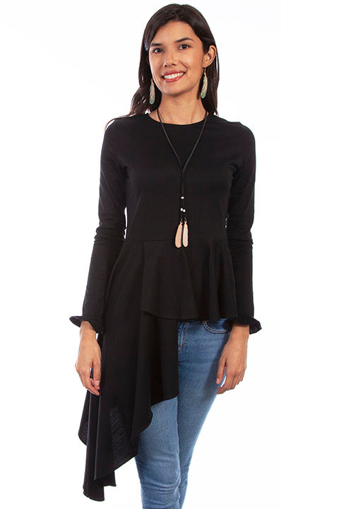 SCULLY- ASYMETRICAL PEPLUM TOP