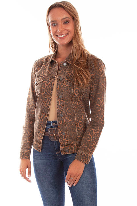 SCULLY- LEOPARD DENIM JACKET