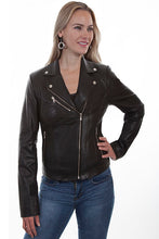 Load image into Gallery viewer, SCULLY- CLASSIC MOTO JACKET