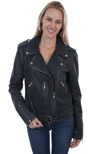 Load image into Gallery viewer, SCULLY- DISTRESSED MOTO JACKET