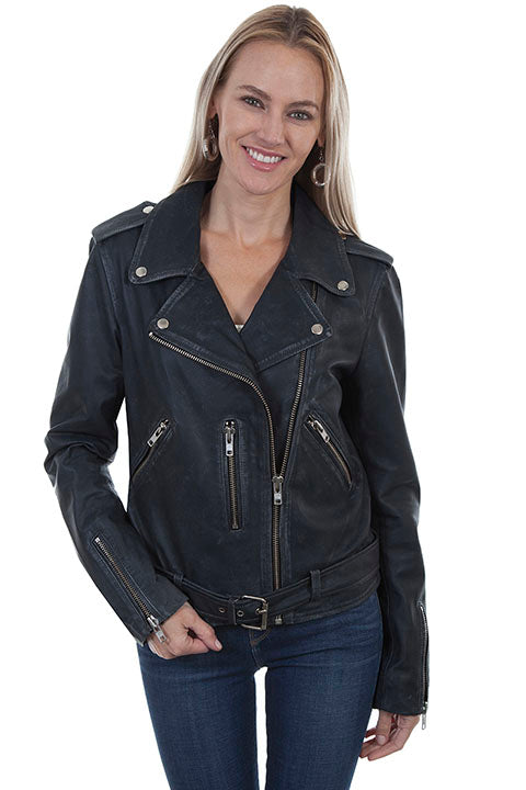 SCULLY- DISTRESSED MOTO JACKET