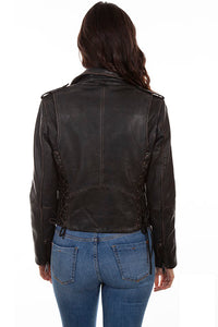 SCULLY- EMBROIDERED AND STUDDED MOTORCYCLE JACKET