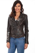 Load image into Gallery viewer, SCULLY- EMBROIDERED AND STUDDED MOTORCYCLE JACKET
