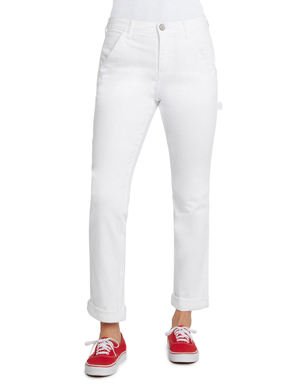 DICKIES- CARPENTER PANT SLIM FIT- WHITE