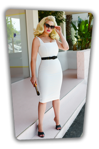 GLAMOUR BUNNY- RACHEL PENCIL DRESS
