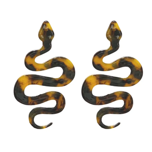ST. ARMANDS- PYTHON DROP EARRINGS