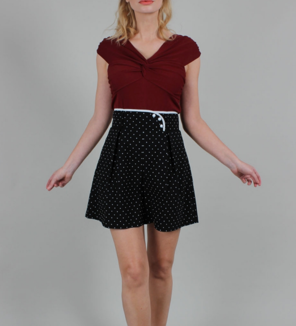 VOODOO VIXEN- POLKA DOT HIGH WAISTED SHORTS