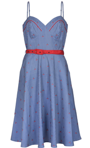 VOODOO VIXEN- NAUTICAL CHERRY DRESS