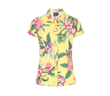 Load image into Gallery viewer, HELL BUNNY- YELLOW HAWAIIAN TOP