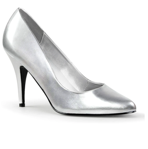 PLEASER- VANITY SILVER PUMPS