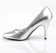 Load image into Gallery viewer, PLEASER- VANITY SILVER PUMPS