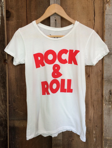 BANDIT BRAND- ROCK & ROLL WHITE TEE